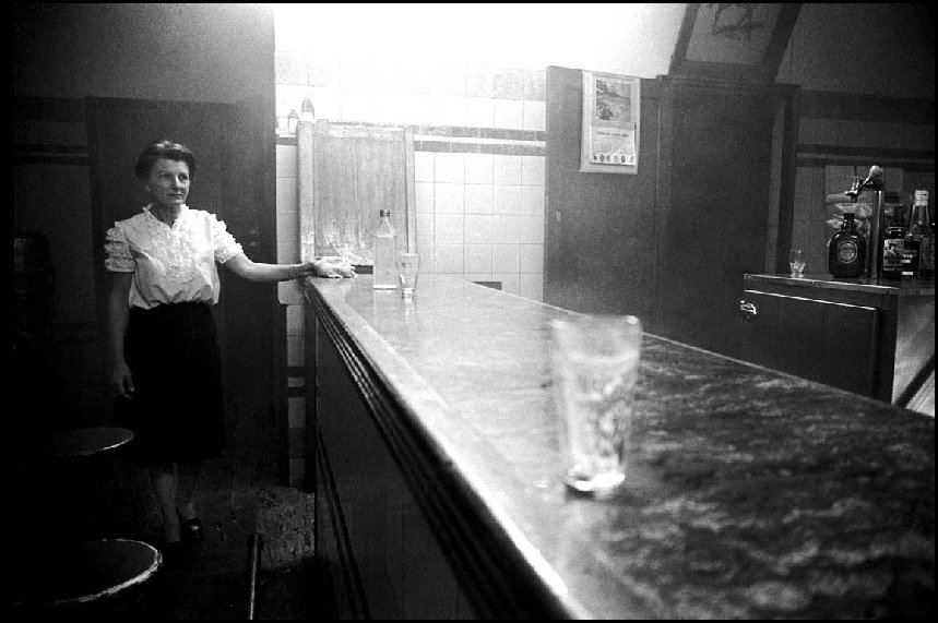 Barmaid, burnt pub Bondi Junction - c.1966
