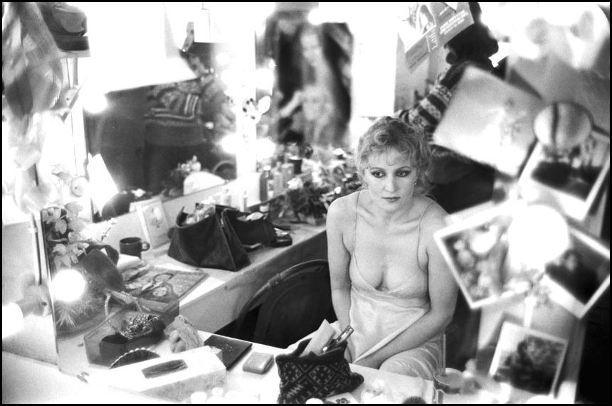 Kate Fitzpatrick - Backstage Paris Theatre c.1981